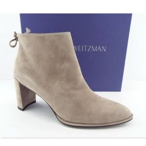 New STUART WEITZMAN Gray Suede Ankles Boots 9.5